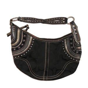 Coach Limited Edition Hobo Bag Black Shoulder EUC